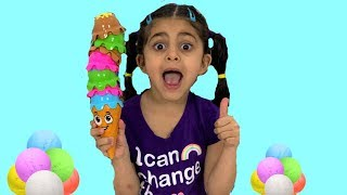 Sally learn and play with Colors ice Cream cone!! Nursery Rhymes song for kids