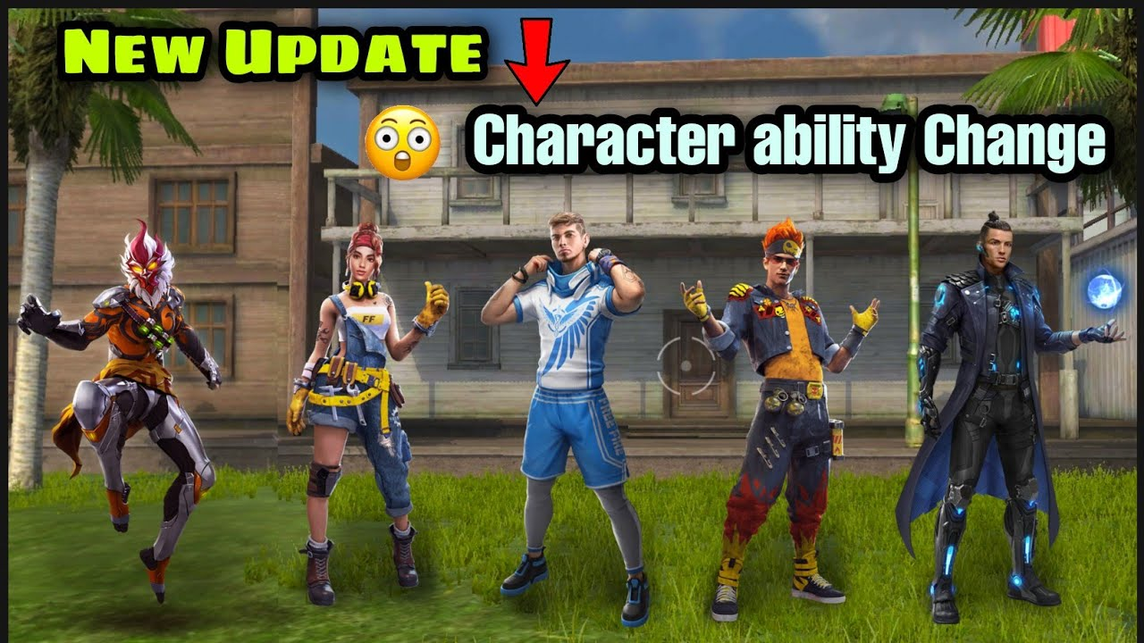 FREE FIRE NEW UPDATE / OB29 UPDATE CHARECTER ABILITY CHANGE