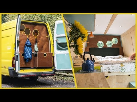 This UNIQUE CLOSED-BACK Van Conversion is the BEES KNEES! 🐝