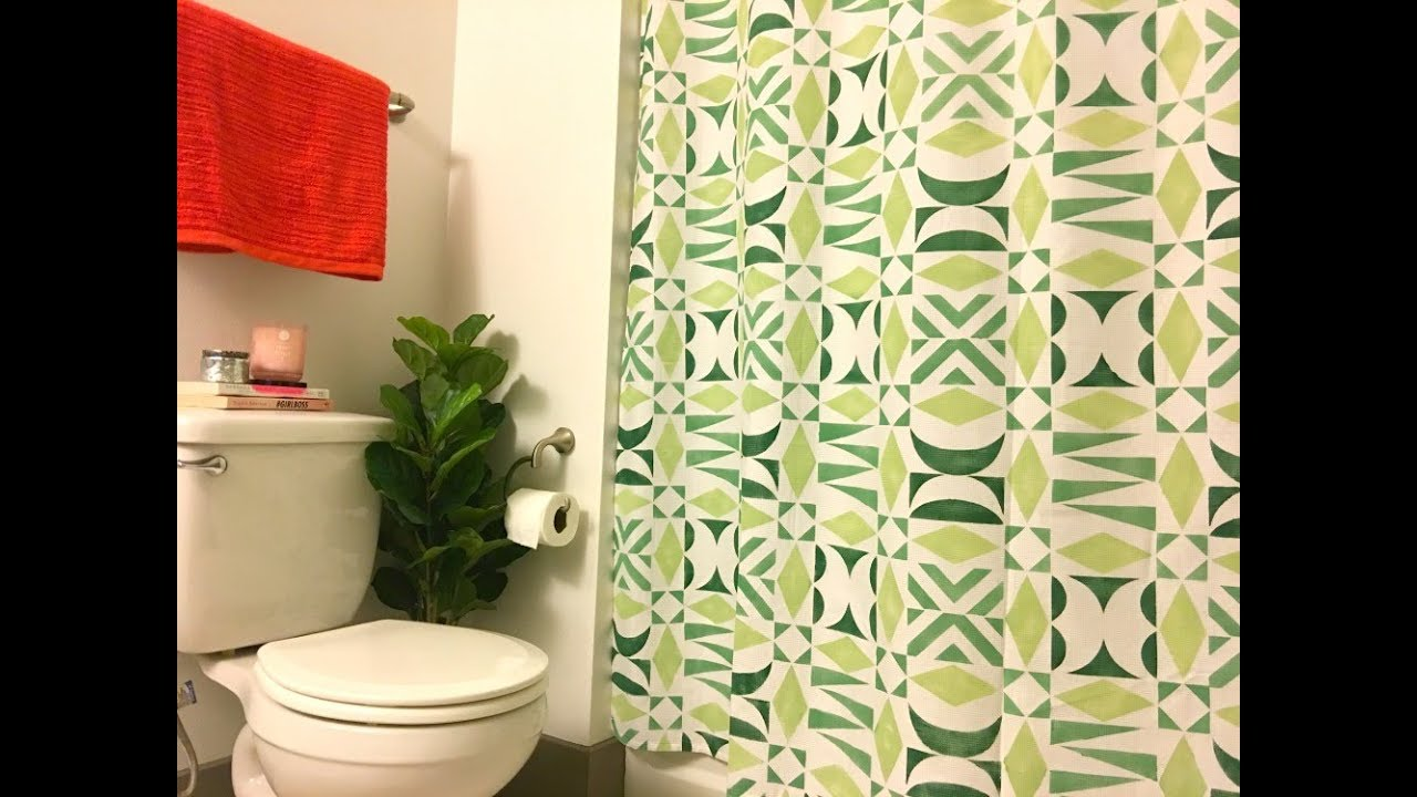 How to Make a DIY Shower Curtain with DIY Modern Tribal Stencil ...