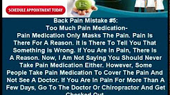 Chiropractor in Bismarck, ND | 5 Common Back Pain Mistakes.