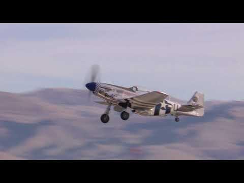 North American Aviation P-51 Mustang Departing KCVH