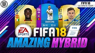 Amazing sbc quaresma hybrid squad!!! - fifa 18 ultimate team