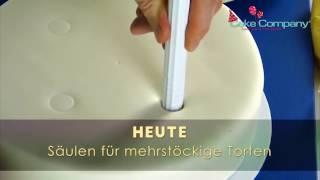 Säulen für mehrstöckige Torten - torten dekorieren Video kurs