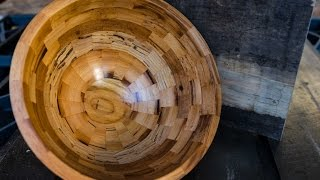 Woodturning Reclaimed Wood Segmented Bowl