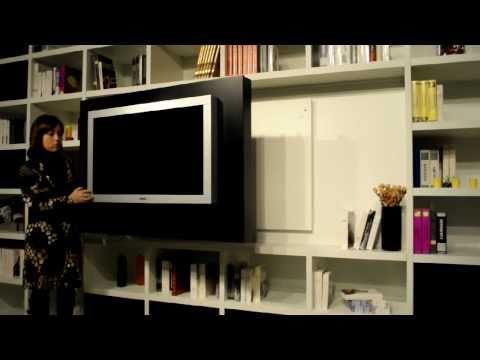 Mobile porta tv apribile con contenitori porta cd dvd d - Pannello porta tv orientabile ...