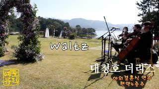 ♬ Waltz 샴페인축하 대청호카페 더리스 야외결혼식 …