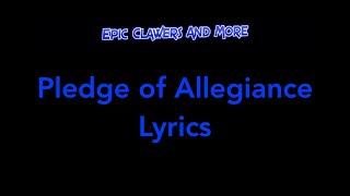 The Pledge Of Allegiance - Lyrics On Screen