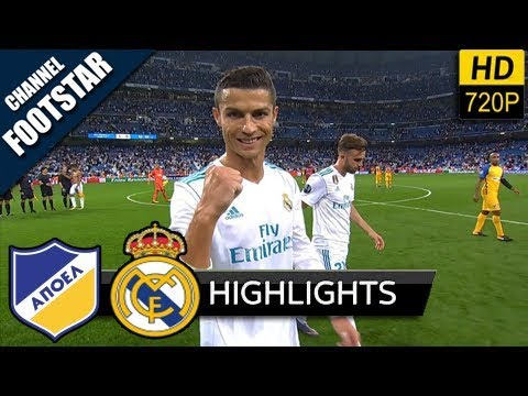 APO vs RMD 0-6 Resumen Goles Highlights Goals UEFA 21/11/2017 HD
