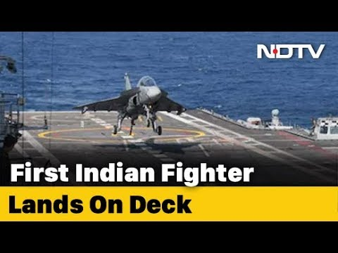 Watch: Naval Tejas Prototype Lands On Aircraft Carrier