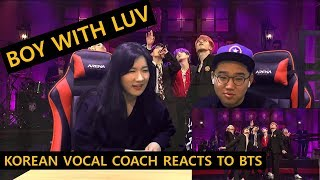 [ENGsub]K-pop Vocal Coach reacts to Boy With Luv - BTS (SNL live)