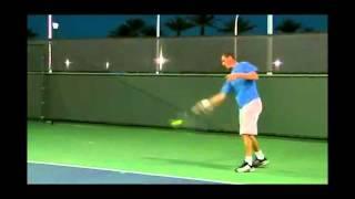 Теннис  Удар справа  1 урок  Работа ног