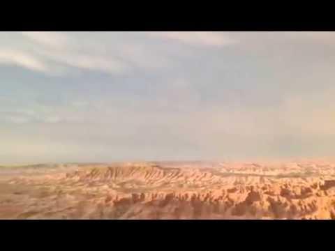 Double Rainbow, Sunset, Badlands, Pine Ridge Reservation, South Dakota