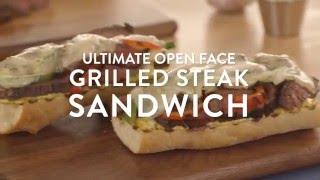 Ultimate Open-Face Steak Sandwich