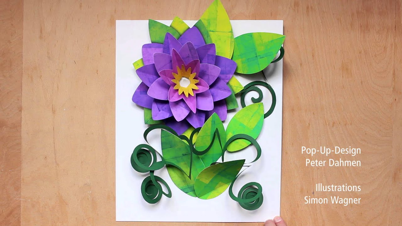 giant flower pop up card scale model youtube