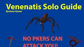 OSRS - Venenatis Solo Guide - Pkers Cant Attack you! - Runescape 2007
