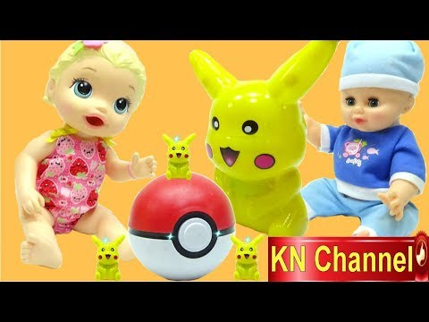 KN Channel Đồ chơi nhật bản LÀM BÁNH TRỨNG POKEMON   ĐỒ CHƠI POPIN COOKIN CỦA BÉ NA