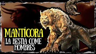 La mantícora, la bestia come hombres de la  mitologia griega