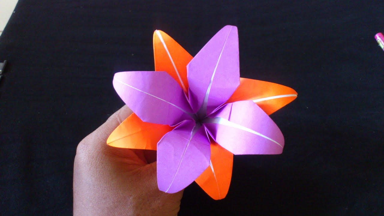 Cara Membuat Origami Bunga Lily Ganda Origami Bunga Dan Tanaman Youtube