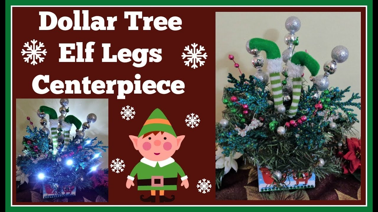 dollar tree elf legs centerpiece diy - Elf Legs Christmas Decoration