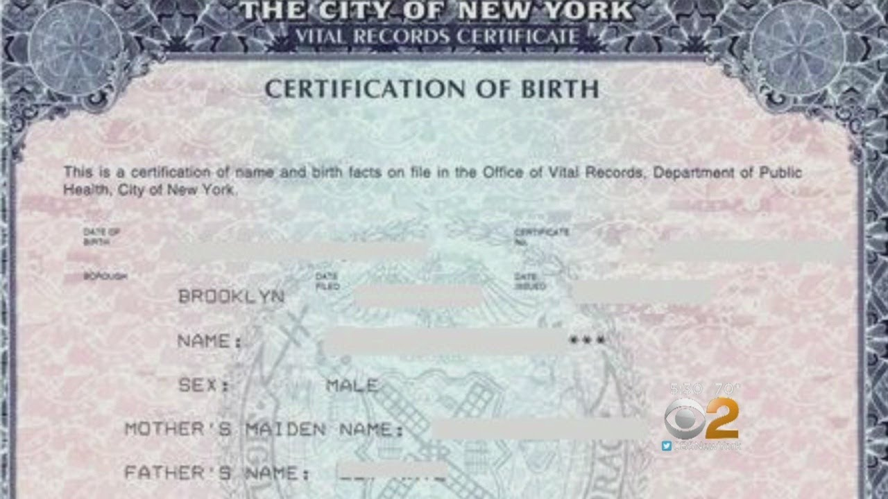 Option X Could Soon Be Available On Nyc Birth Certificates Youtube