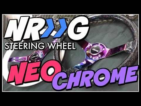 NRG Neo Chrome Steering Wheel Deep Dish UNBOXING!!