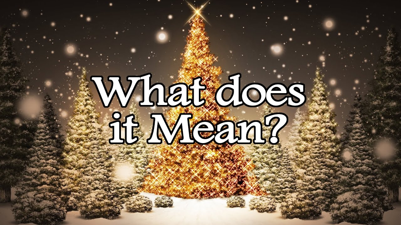 The TRUE meaning of Christmas - YouTube