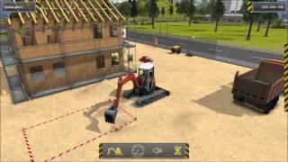 Bau Simulator 2012 Demo Gameplay Mission 1 Part#001 Baggern
