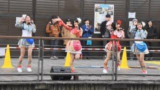 日本少女團體(第一首熱舞)/大阪心齋橋(106.02.08)【FB中學生學後園】