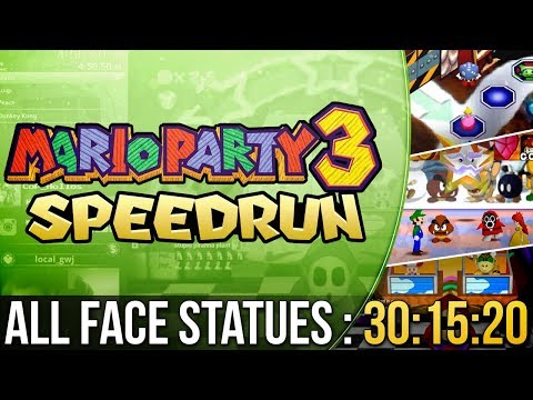 [WR] Mario Party 3 All Face Statues Speedrun in 30:15:20