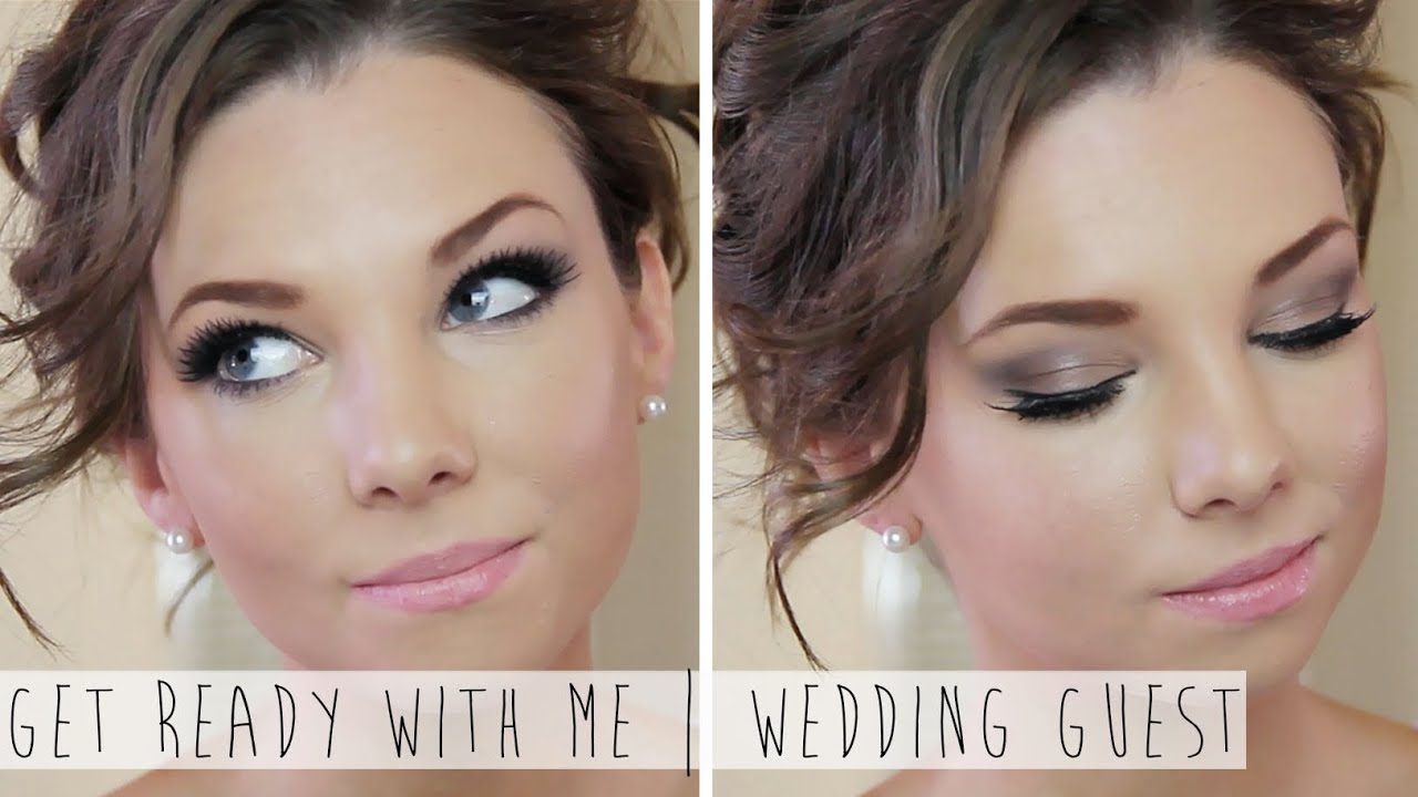 get ready with me wedding guest | hair & makeup - youtube