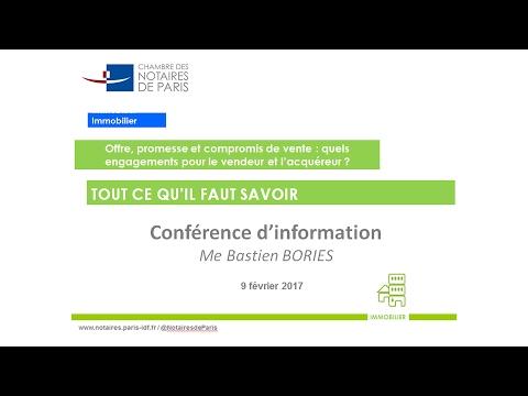 Conférence | Les engagements du vendeur et de l'acquéreur d'un bien immobilier
