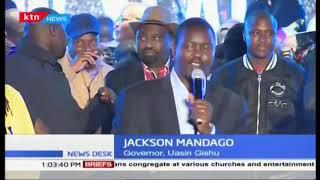 Uasin Gishu Governor Jackson Mandago joins Eldoret residents in ushering in the new year