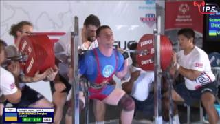 Dmitry Semenenko (Ukraine) at IPF Equipped Worlds, 1022.5 kg (417.5-272.5-332.5)@105 kg