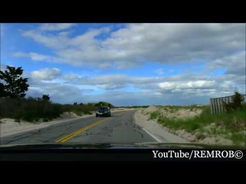 Driving Falmouth Beach, Cape Cod, MA.