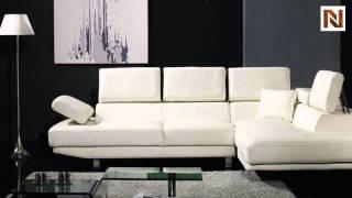 White Bonded Leather Sectional Sofa Set VGYIT60-BL