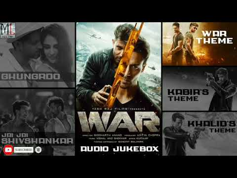 #war #musiclover  War Audio Jukebox  Full Song Audio  Hrithik, Tiger, Vaani  Vishal And Shekhar