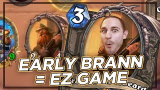 Early Brann Scales INFINITELY | Zalae Hearthstone Battlegrounds