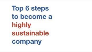 How to become a highly sustainable company?