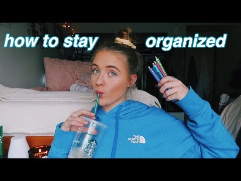HOW I STAY ORGANIZED IN COLLEGE (easy tips)