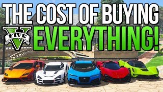 How Much Does It Cost To Buy EVERYTHING In GTA 5 Online?