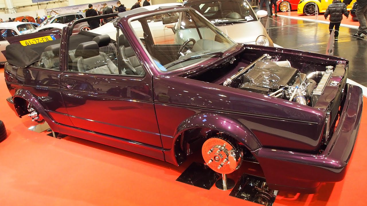 volkswagen golf 1 cabrio 1981 210 ps tuning at essen. Black Bedroom Furniture Sets. Home Design Ideas