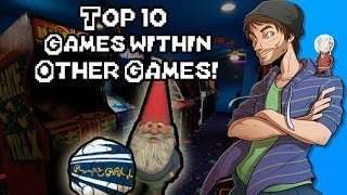 Top 10 Games Within Other Games! -SpaceHamster