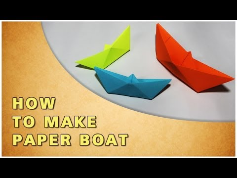 origami how to make paper boat traditional paper toy youtube. Black Bedroom Furniture Sets. Home Design Ideas