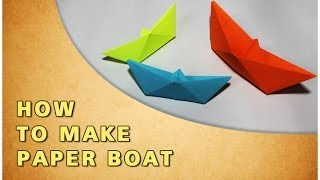Origami | How To Make Paper Boat | Traditional Paper Toy