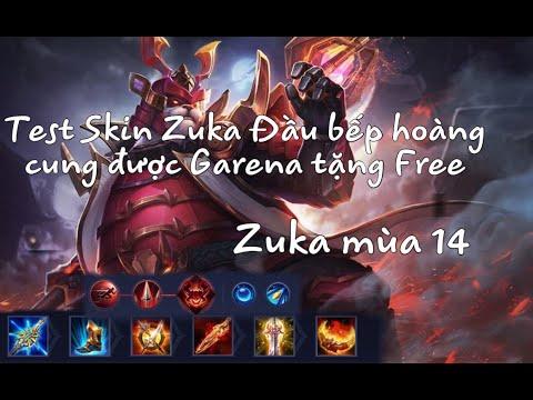 Test Skin Zuka Đầu bếp hoàng cung xịn xò được Garena tặng Free - Zuka mùa 14