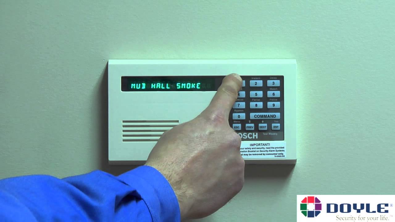 doyle security systems how to use basic keypad functions on a rh youtube com bosch 6000 alarm panel manual bosch 6000 alarm panel manual