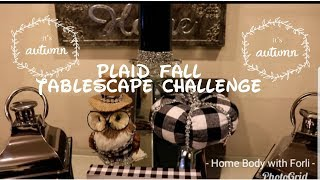 💎🍁🍂Fall plaid Tablecape hosted by Holiday Cookie