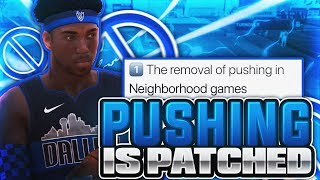 PUSHING IS FINALLY PATCHED? FIRST GAMES AFTER PATCH • BEST BUILD AFTER PUSHING PATCH IN NBA 2K19..