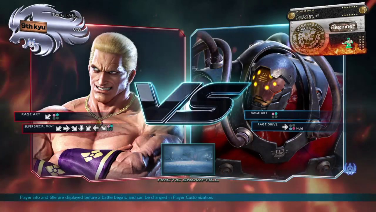 Tekken 7 Ps4 Player Match Geese Howard Vs Gigas With The Not Bad Player Match Trophy Youtube